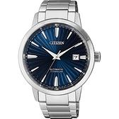 CITIZEN 星辰 鈦 自動上鍊機械手錶-藍x銀/40.5mm NJ2180-89L