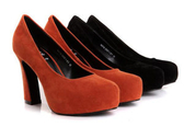 粗跟高跟鞋-經典款別緻知性女休閒鞋2色ws63[巴黎精品]