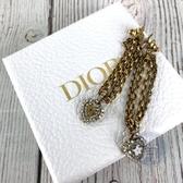 BRAND楓月 Christian Dior 迪奧 CD 金屬 心型 垂墜 耳環