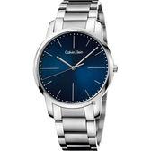 Calvin Klein CK City 極簡都會手錶-藍x銀/43mm K2G2G1ZN