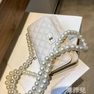 手機包斜背包 珍珠鏈條包包女夏季流行新款潮時尚網紅爆款斜挎包洋氣小方包 韓菲兒
