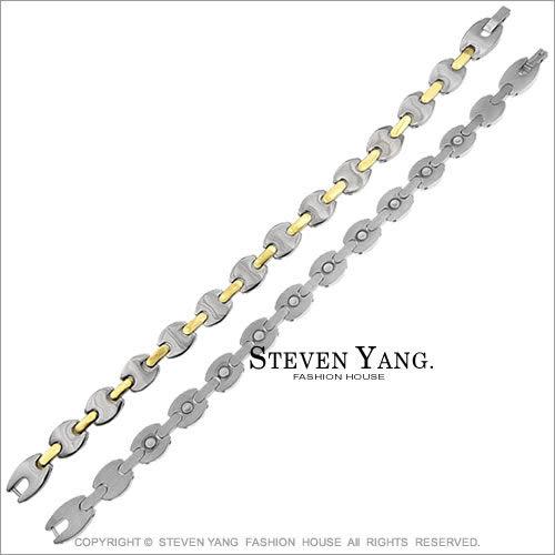 手鍊 鈦鋼飾「時尚魅力」99%純鈦手鍊 健康鈦鍺