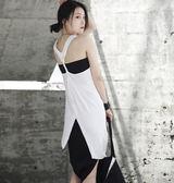 夏季個性擰皺不規則中長版無袖背心洋裝/設計家分店