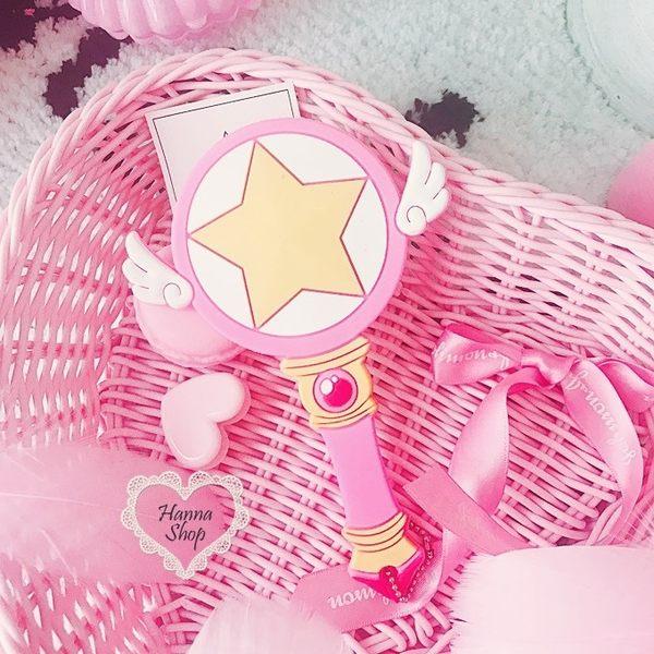 《花花創意会社》可愛月光仙子魔法美容手柄鏡【H6354】