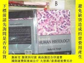 二手書博民逛書店texbook罕見of human histology with colour atlas and practic
