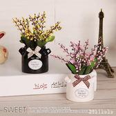 辦公室展柜裝飾仿真盆栽小擺件綠植假花植物客廳仿真花卉 XY4941【KIKIKOKO】