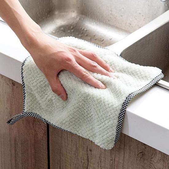 珊瑚絨 抹布 擦手巾 不掉毛 洗碗布 清潔布 可掛式 廚房 大掃除珊瑚絨抹布(大) 【N190】慢思行