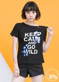 【2%】2% twopercent 英文標語T恤_黑