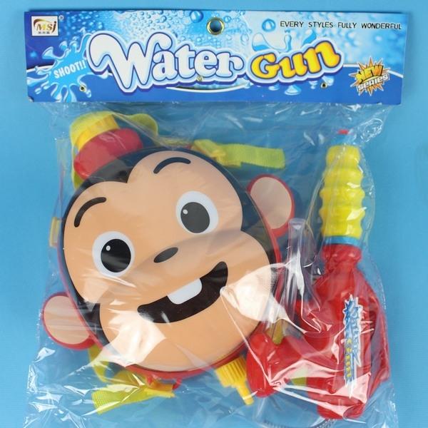 猴子背包水槍 後背式水槍 槍長24cm/一袋5個入(促199)可背式加壓強力水槍-CF123572