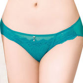 思薇爾-撩波系列M-XXL蕾絲低腰三角內褲(松瓦藍)