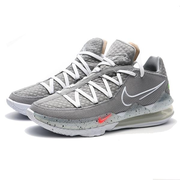 "NIKE 籃球鞋 LEBRON 17 LOW ""PARTICLE GREY"" 灰白 風車 姆斯 詹皇 XVII 低筒 (布魯克林) CD5006-004"