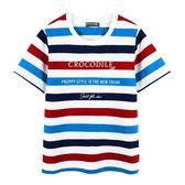『小鱷魚童裝』彩色條紋印花T恤(02號~06號)535412