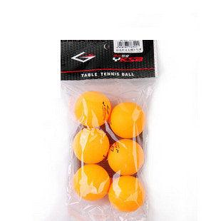 乒乓球 6302 黃色一卡6只裝