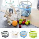 籃子 鋼質手提籃-4色 收納籃 野餐籃 樂嫚妮 RISATORP