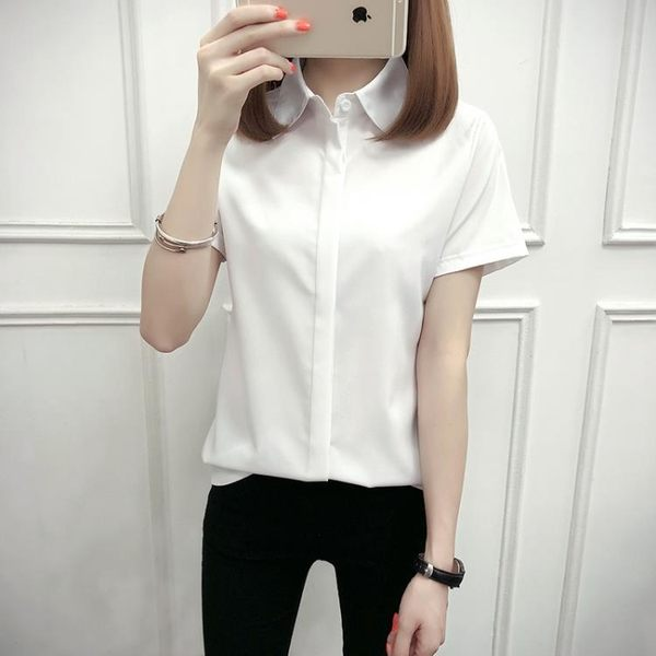 白襯衫女短袖夏裝胖MM200斤寬鬆特大職業裝ol工作服顯瘦襯衣 迪澳安娜