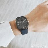 美國小眾青少年手錶男中學生潮流韓版個性方形皮帶簡約石英錶男錶 衣間迷你屋