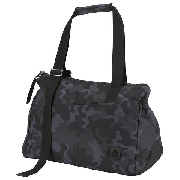 REEBOK ENH LEAD & GO DUFFLE BAG 行李袋 肩背 健身 休閒 筆電 迷彩 黑【運動世界】 CV3551