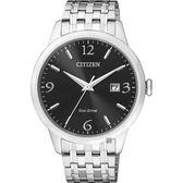 【CITIZEN 星辰】光動能紳士手錶-黑x銀/40mm BM7300-50E