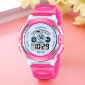 兒童手錶女孩防水可愛夜光小學生手錶數字式運動童電子錶