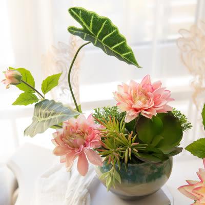 模擬花假花 套裝 花藝 客廳餐桌 裝飾花 花瓶花束 -bri0206100157