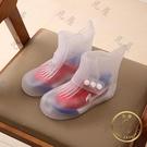兒童雨鞋 兒童防水雨鞋套腳雨靴男女旅行防雪鞋親子鞋防水防滑中筒鞋套加厚-限時折扣