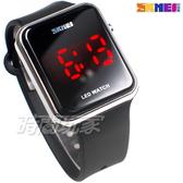 SKMEI時刻美 科技時尚 電子運動錶 女錶 中性錶 男錶 防水手錶 夜光 日期 學生錶 SK1176銀