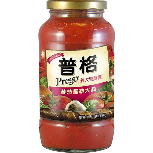 PREGO 義大利麵醬蕃茄羅勒大蒜680g【愛買】