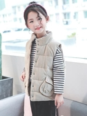 女童燈芯絨馬甲2018新款冬季韓版保暖中大童加厚羽絨夾棉上衣外套
