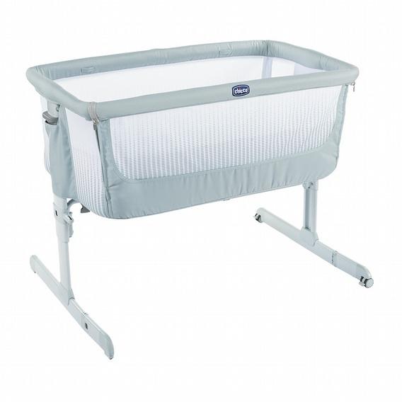 Chicco Next 2 Me多功能親密安撫嬰兒床邊床Air版-加勒比藍