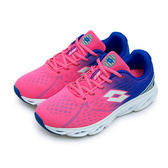 LIKA夢 LOTTO 專業氣動慢跑鞋 AIR FLOW 2 系列 桃紅藍 3713 女