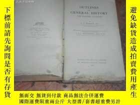 二手書博民逛書店OUTLINES罕見OF GENERAL HISTORY(內有地