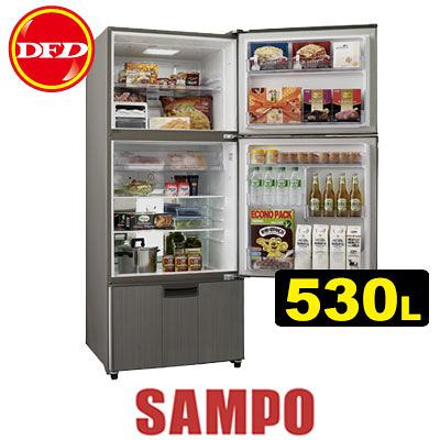 SAMPO 聲寶 SR-A53DV 變頻冰箱系列 (K2) 530L 高效能壓縮機 DC風扇 公司貨 SRA53DV ※運費另計(需加購)