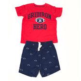 Carter s 短袖套裝 T恤上衣+短褲二件組紅橄欖 男寶寶【CA249G437】