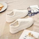 帆布鞋 透氣小白鞋女新款夏季潮ulzzang百搭布鞋白鞋帆布鞋低幫板鞋 瑪麗蘇
