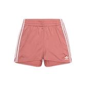 ADIDAS ORIGINALS 3-STRIPES 玫瑰粉 白logo 運動 短褲 女(布魯克林) CY4765