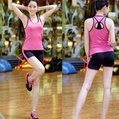 瑜珈服套裝含健身衣+運動褲-修身透氣運動背心短褲女運動服7色69n47【時尚巴黎】