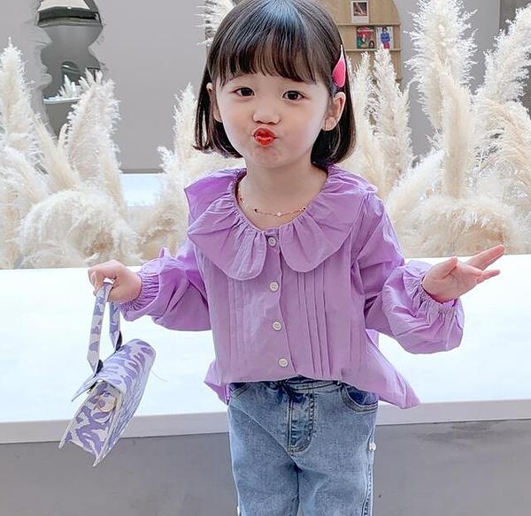 女童装 女童襯衫2020春秋季新款兒童洋氣長袖襯衣小童女寶寶秋裝時髦上衣【快速出貨八折鉅惠】