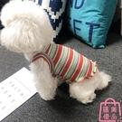 寵物衣服狗背心彩條可愛泰迪比熊法斗貓衣服春夏裝【匯美優品】