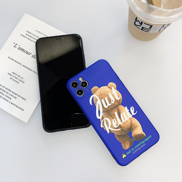 iPhone11ProMax 蘋果手機殼 可掛繩 熊麻吉摳屁股 矽膠軟殼 iX/i8/i7/SE