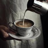 美式陶瓷杯套裝家用咖啡杯碟套裝簡約創意奶茶杯早餐杯最後幾天!