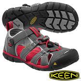 Keen Seacamp II CNX 兒童護趾水陸兩用鞋 深灰/紅 1014126