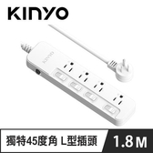 KINYO SD-3446 4開4插安全延長線 6呎 1.8M