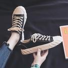 帆布鞋帆布鞋女鞋2020年春季新款ulzzang學生百搭春秋春款單鞋小黑鞋子