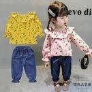 女童小童童裝套裝公主衣服韓版牛仔兩件套【時尚大衣櫥】