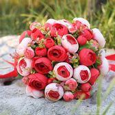 50朵絹布玫瑰花韓式手捧花球結婚手捧花仿真韓式婚禮花束『潮流世家』