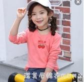 童裝女童長袖T恤春秋洋氣打底衫中大童純棉體恤2020新款兒童上衣 漾美眉韓衣