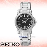 SEIKO 精工手錶專賣店 SXDF43P1 女錶 石英錶 不銹鋼錶殼錶帶 黑 藍寶石水晶玻璃鏡面
