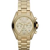 【台南 時代鐘錶 Michael Kors】MK5798 羅馬時標 三眼計時腕錶 金 36mm 公司貨 開發票