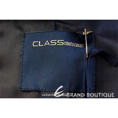 CLASS roberto cavalli 紅色不修邊毛呢拉鍊外套 1230389-49