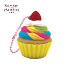 彩虹款【日本進口】杯子蛋糕 捏捏吊飾 吊飾 捏捏樂 軟軟 squishy 捏捏 Sammy the Patissier - 615725